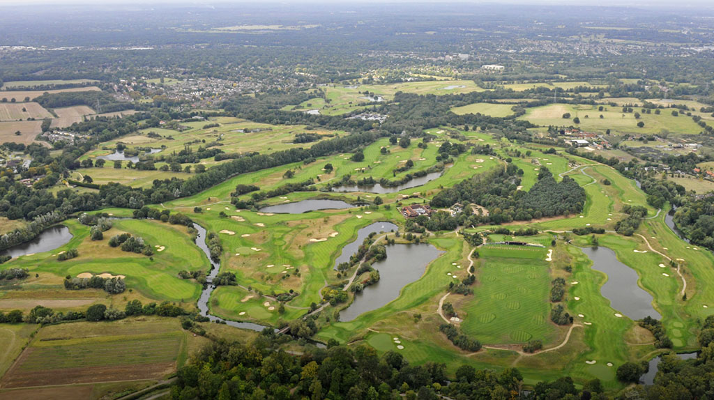 Birds-eye view of The Wisley golf club