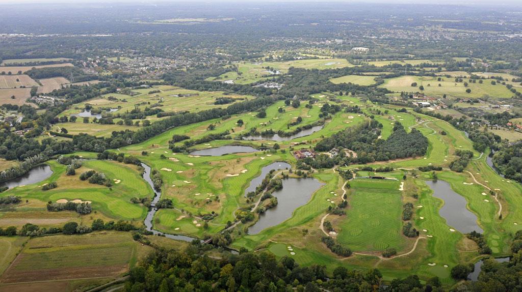 Birds-eye view of The Wisley golf club